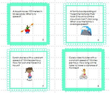 Force and Motion Task Cards (Speed, Velocity, and Acceleration)