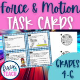Force and Motion Task Cards {QR Code Answers}