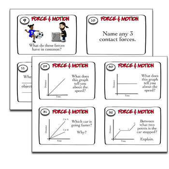 Force and Motion Task Cards (editable)