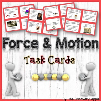 Force and Motion Task Cards (magnetism, newtons laws, Fric