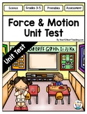 Force and Motion Test {Editable}