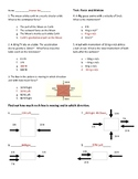 Force and Motion Test / Newton's 3 laws