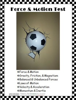Force and Motion Test & Review