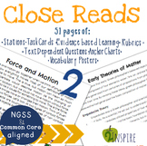 Force and Motion & Theories of Matter Close Reading Text-Dependent Bundle