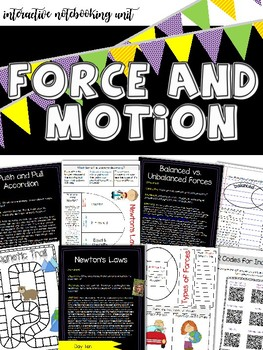 Force and Motion: Twelve Day Unit