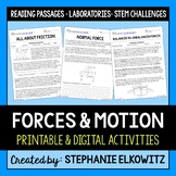 Forces and Motion Unit Activities   Printable & Digital  