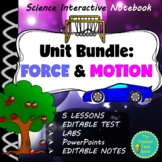 NEWTON'S LAWS OF MOTION SCIENCE INTERACTIVE NOTEBOOK