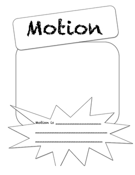 2nd and 4th Grade Force and Motion Unit Cards