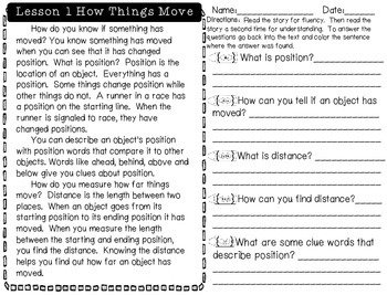 Force and Motion Unit ~ Close Reading, Experiments, & Interactive Notebook