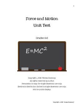 Force and Motion Unit Test