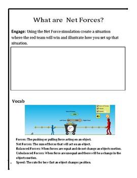 Force and Motion Virtual Lab - No Prep STEM