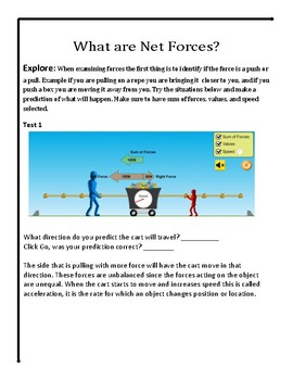 Force and Motion Virtual Lab - No Prep STEM