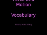 Force and Motion Vocabulary