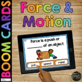 Force and Motion Vocabulary BOOM CARDS™ Magnets Science Digital Learning Game