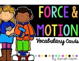 Force and Motion Science Vocabulary Cards