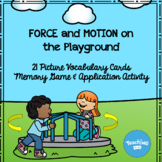 Force and Motion: Vocabulary Cards, Memory Cards, & Application Activity