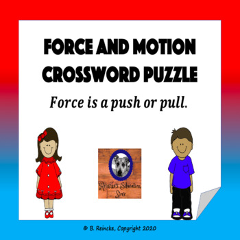 Force and Motion Vocabulary Crossword Puzzle