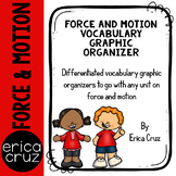 Force and Motion Vocabulary Graphic Organizers