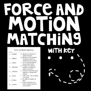 Force and Motion Vocabulary Matching