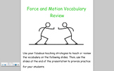 Force and Motion Vocabulary Notebook Presentation