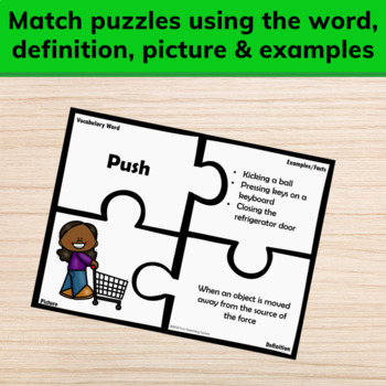 Force and Motion Vocabulary Puzzles
