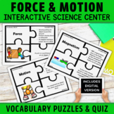 Force and Motion Vocabulary Puzzles Activity