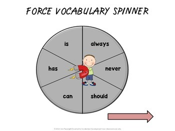Force and Motion Vocabulary Review Games