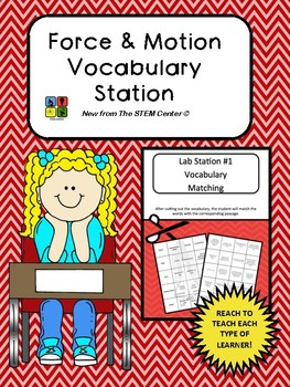 Force and Motion Vocabulary Station