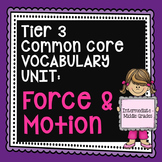 Force and Motion Vocabulary Unit - Physical Science