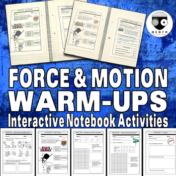 Force and Motion Warm Ups Bellringers
