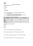 Force and Motion - Worksheet