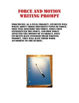 Force and Motion Writing Prompt