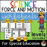 Force and Motion for Special Education