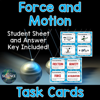 Newton's Laws Card Sort and Force and Motion Task Cards