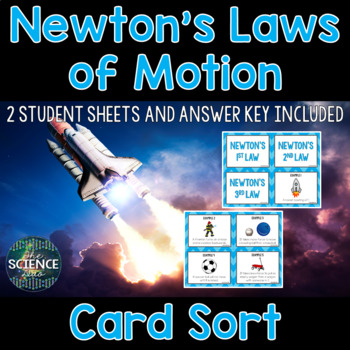 Newton's Laws Card Sort and Force and Motion Task Cards Bundle