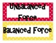 Force and Newton's Laws Word Wall