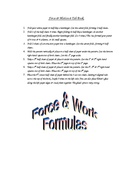 Force and Work Foldable