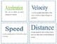Force and motion flashcards