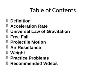 Force of Gravity PowerPoint