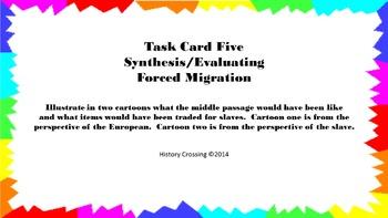 Forced Migration Task Cards