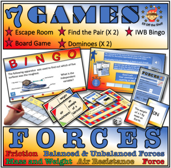 Forces - 7 Game Compendium for Middle School Science