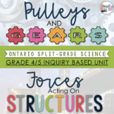 ONTARIO SCIENCE: GR. 4/5 Forces Acting on Structures & Pulleys and Gears Inquiry