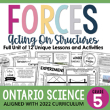 ONTARIO SCIENCE: Gr. 5 Forces Acting on Structures Complet