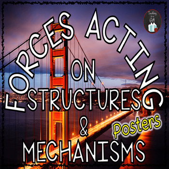 Forces Acting on Structures and Mechanisms Science Concepts Posters
