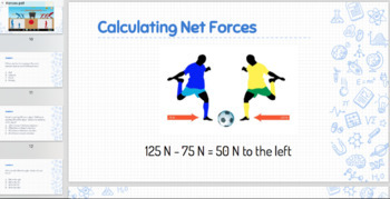Forces:  Balanced and Unbalanced Powerpoint and Guided Notes