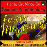ONTARIO GRADE 3 SCIENCE: FORCES CAUSING MOVEMENT