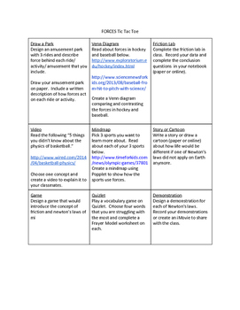 Forces Choice Boards