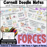 Forces Cornell Doodle Notes and Powerpoint