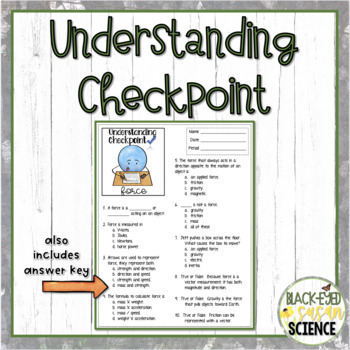 Forces Doodle Notes & Understanding Checkpoint