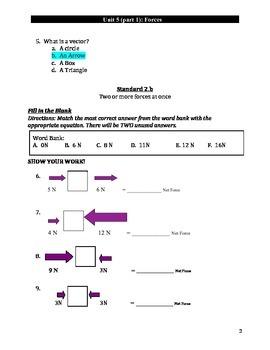Forces Exam Teacher Key